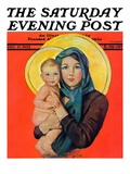 """Madonna and Child,"" Saturday Evening Post Cover, December 17, 1932 Giclee Print by Ellen Pyle"