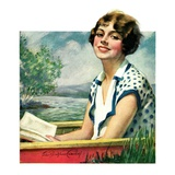 """Summer Reading,""September 4, 1926 Giclee Print by Bradshaw Crandall"