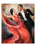 """Ballroom Dancing,""April 10, 1937 Giclee Print by John LaGatta"