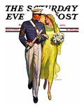 """Military Grad and Girl,"" Saturday Evening Post Cover, June 7, 1930 Giclee Print by McClelland Barclay"