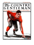 """Football Player,"" Country Gentleman Cover, November 3, 1923 Giclee Print by WM. Hoople"