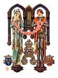 """""""Henry V and His French Bride,""""July 26, 1930 Giclee Print by J.C. Leyendecker"""