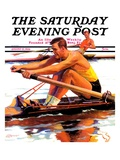 """Sculling Race,"" Saturday Evening Post Cover, August 15, 1936 Impressão giclée por Maurice Bower"