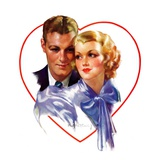 """Couple in Heart,""February 17, 1934 Giclee Print by Bradshaw Crandall"