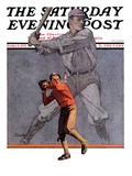 """Shadow Batter,"" Saturday Evening Post Cover, October 8, 1932 Giclee Print by John E. Sheridan"