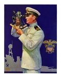 """Naval Officer,""February 24, 1934 Reproduction procédé giclée par Edgar Franklin Wittmack"