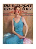 """Blue Dress,"" Saturday Evening Post Cover, February 4, 1933 Giclee Print by Charles W. Dennis"