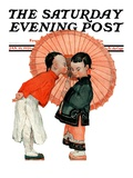 """Japanese Kiss,"" Saturday Evening Post Cover, January 16, 1926 Giclee Print by Henry Soulen"