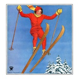 """Woman Ski Jumper,""January 1, 1934 Giclee Print by Carolyn Haywood"
