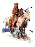"""Plains Indians,""March 3, 1934 Giclee Print by William Henry Dethlef Koerner"