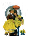 """April Shower,""April 23, 1927 Giclee Print by Elbert Mcgran Jackson"