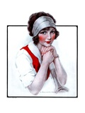 """Woman Tennis Player,""June 27, 1925 Giclee Print by J. Knowles Hare"