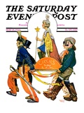 """Children's Circus Parade,"" Saturday Evening Post Cover, May 18, 1929 Giclee Print by Lawrence Toney"