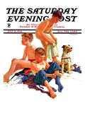 """After a Swim,"" Saturday Evening Post Cover, July 21, 1934 Giclee Print by Eugene Iverd"