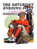 &quot;Golfer Kept Waiting,&quot; Saturday Evening Post Cover, September 12, 1931 Giclee Print by John Sheridan