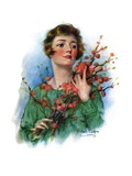 """Woman and Flowering Twigs,""May 21, 1927 Giclee Print by William Haskell Coffin"