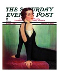 """Svelte in Black,"" Saturday Evening Post Cover, October 13, 1934 Giclee Print by Charles W. Dennis"