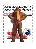 &quot;Airmail Pilot,&quot; Saturday Evening Post Cover, December 8, 1934 Giclee Print by John Sheridan