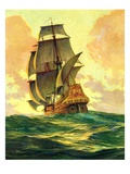 """Spanish Galleon,""March 30, 1935 Giclee Print by Anton Otto Fischer"