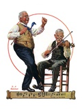 """Jig to a Fiddle,""February 2, 1929 Giclee Print by J.F. Kernan"