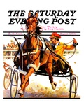 """Harness Race,"" Saturday Evening Post Cover, August 17, 1935 Giclee Print by Maurice Bower"
