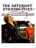 """Fall in the Park,"" Saturday Evening Post Cover, December 3, 1938 Giclee Print by Neysa Mcmein"