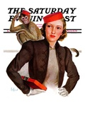 """Matching Monkey Hats,"" Saturday Evening Post Cover, March 26, 1938 Giclee Print by Neysa Mcmein"