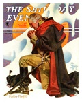 """George Washington at Valley Forge,"" Saturday Evening Post Cover, February 23, 1935 Giclee Print by Joseph Christian Leyendecker"