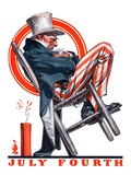 """Sleeping Uncle Sam,""July 5, 1924 Giclee Print by Joseph Christian Leyendecker"