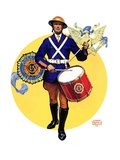 """American Legion Drummer,""October 7, 1933 Giclee Print by Edgar Franklin Wittmack"