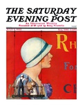 """Billboard Painters,"" Saturday Evening Post Cover, July 9, 1932 Giclee Print by Penrhyn Stanlaws"