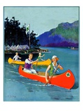 """Four-H Camp,""July 1, 1933 Giclee Print by W.F. Soare"