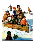 """Homemade Sleigh,""January 19, 1929 Giclee Print by Eugene Iverd"