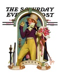 """Easter Bouquet,"" Saturday Evening Post Cover, April 20, 1935 Giclee Print by Joseph Christian Leyendecker"