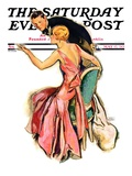 &quot;Engaged Couple,&quot; Saturday Evening Post Cover, May 17, 1930 Giclee Print by John LaGatta