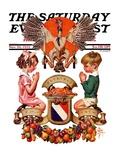 """Thanksgiving Crest,"" Saturday Evening Post Cover, November 26, 1932 Giclee Print by Joseph Christian Leyendecker"