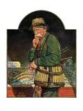 """""""Fishing at the Market,""""May 2, 1931 Giclee Print by J.F. Kernan"""