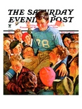 """Football Hero,"" Saturday Evening Post Cover, November 17, 1934 Giclee Print by Eugene Iverd"