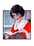 &quot;Woman Reading Book,&quot;March 21, 1925 Giclee Print by J. Knowles Hare