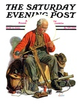"""""""Going Fishing,"""" Saturday Evening Post Cover, May 3, 1930 Giclee Print by J.F. Kernan"""