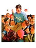 &quot;Football Hero,&quot;November 17, 1934 Giclee Print by Eugene Iverd
