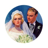 """Bridal Couple,""June 2, 1934 Giclee Print by Bradshaw Crandall"