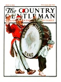 &quot;Grand Military Band,&quot; Country Gentleman Cover, June 23, 1923 Reproduction proc&#233;d&#233; gicl&#233;e par Angus MacDonall