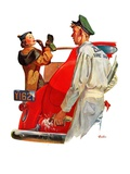 """Fill'er Up,""April 3, 1937 Giclee Print by McCauley Conner"