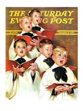 """Choir Boys Will Be Boys,"" Saturday Evening Post Cover, December 10, 1938 Giclee Print by Frances Tipton Hunter"