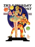 """Carnival,"" Saturday Evening Post Cover, February 25, 1933 Giclee Print by Joseph Christian Leyendecker"