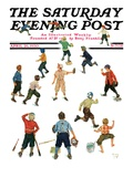 """Home Run,"" Saturday Evening Post Cover, April 26, 1930 Giclee Print by Eugene Iverd"
