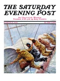 """Trim the Sails!,"" Saturday Evening Post Cover, March 18, 1933 Giclee Print by Anton Otto Fischer"