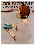 """""""Cup of Java,"""" Saturday Evening Post Cover, April 30, 1932 Giclee Print by Penrhyn Stanlaws"""