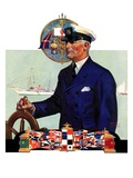 """Ship's Captain,""July 28, 1934 Reproduction procédé giclée par Edgar Franklin Wittmack"